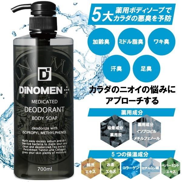 DiNOMEN薬用デオドラントボディソープ 700ml